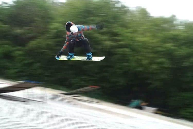 Air Time at Cardiff Dry Ski Slope